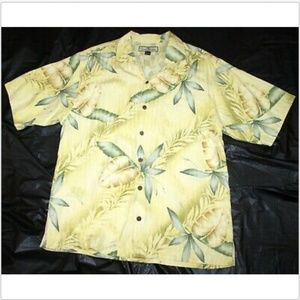 Tommy Bahama Short Sleeve Button Front Floral Shir